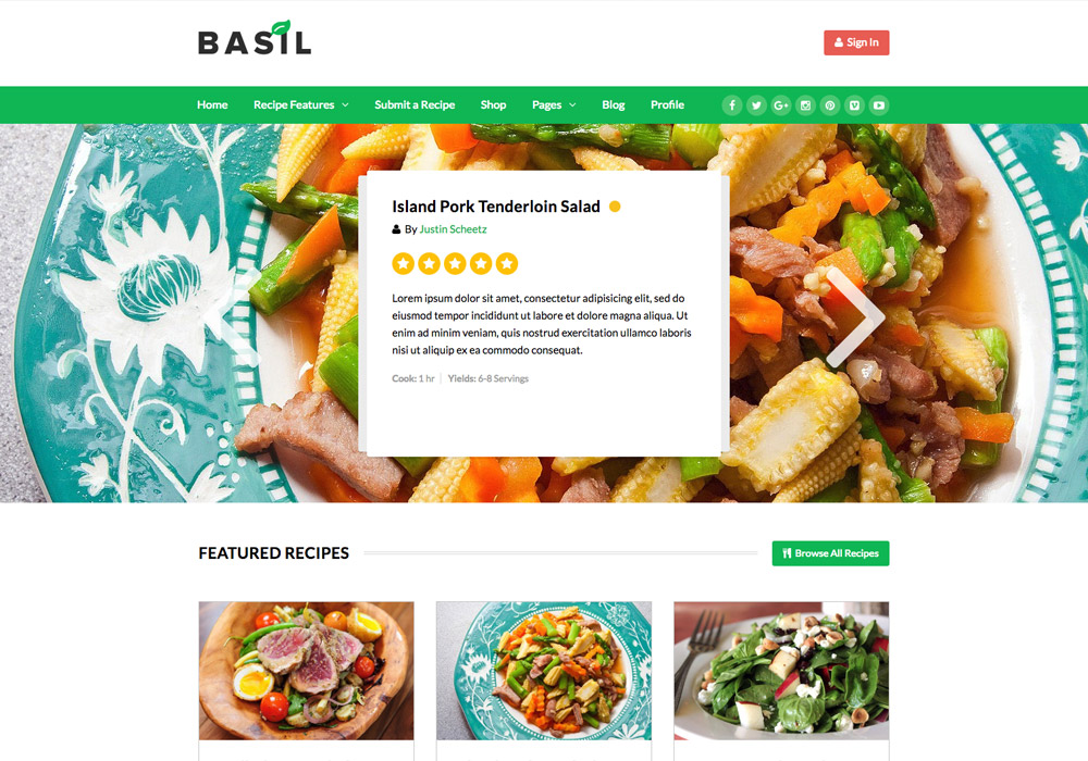 Basil_Recipes_food_wordpress_theme