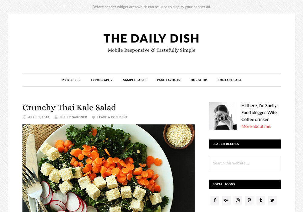 Daily Dish Food WordPress Themes