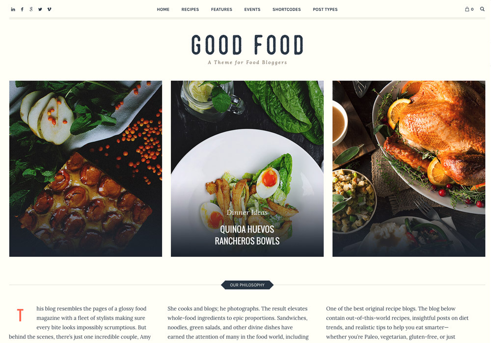 20 best new food wordpress themes for bloggers 2017 goodfoodwordpresstheme forumfinder Image collections