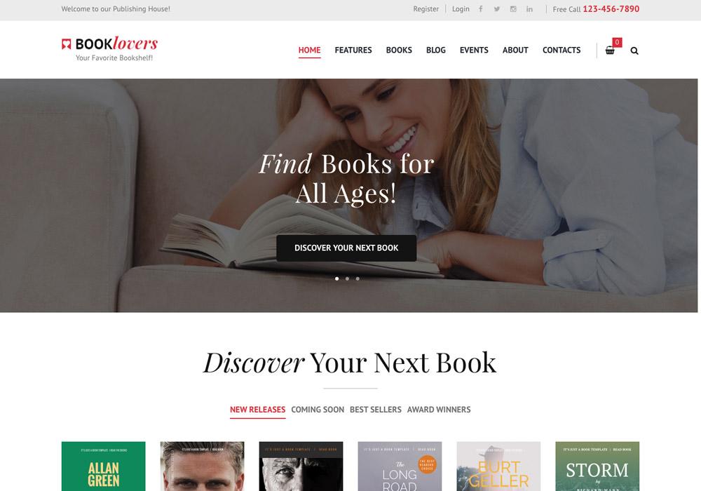 WordPress Bookstore Themes