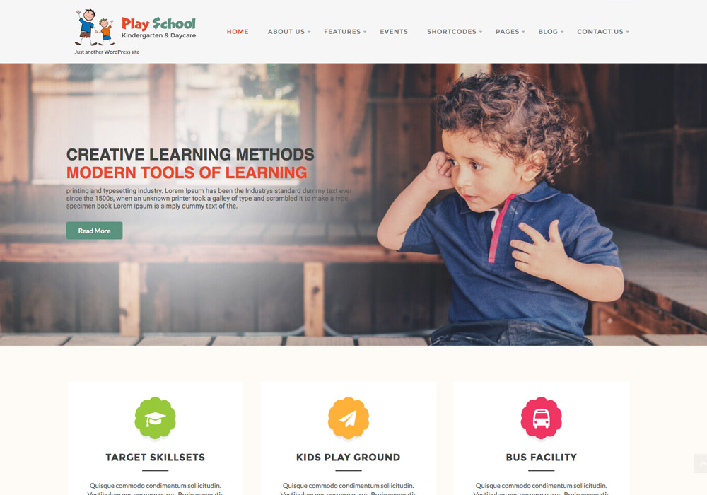 Free WordPress themes for schools