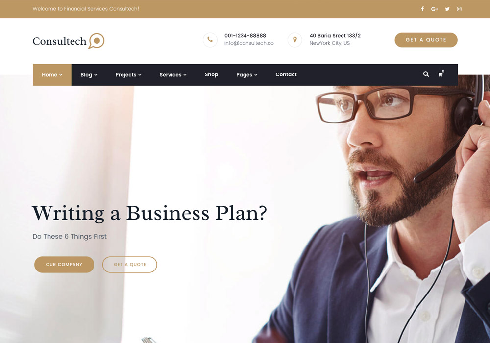 finance wordpress themes