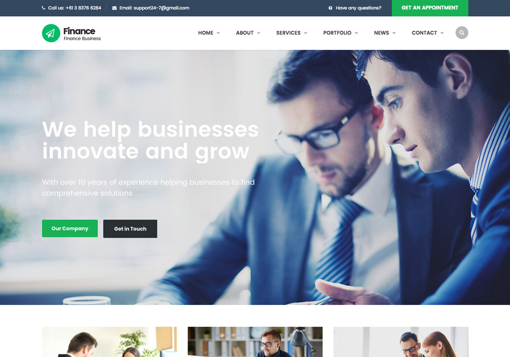 financial wordpress themes