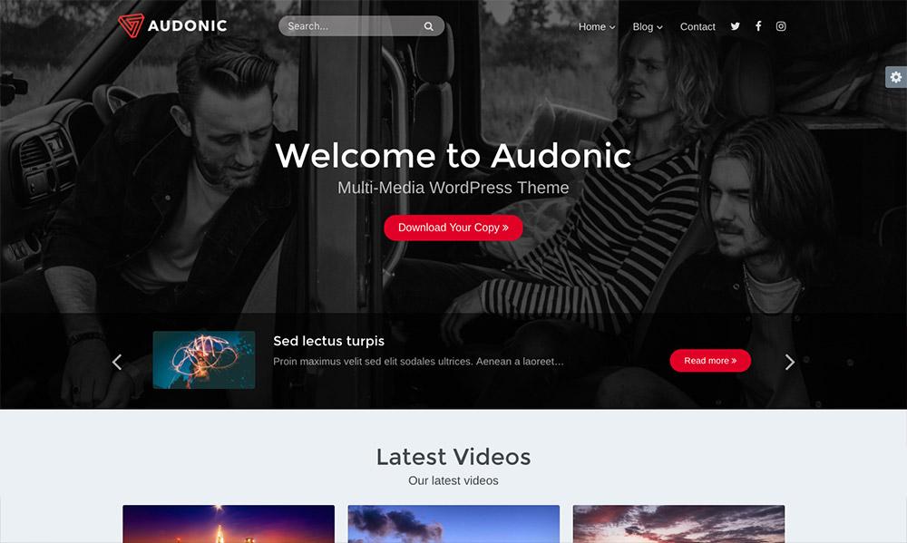 WordPress Music Themes